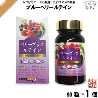 漿果加葉黃素 (90 片) 葉黃素紅葡萄黑醋栗越橘樹莓蔓越莓 Acai 草莓種子與含運費