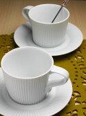 白山陶器【波佐見焼】ストレッチ カップ&ソーサー【コーヒーカップ】【コーヒー碗皿】【北欧】