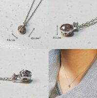 【Nabeya】PT900ブラウンダイヤモンドトータル0.3カラットアップご褒美にぴったりのペンダント【プラチナ900】