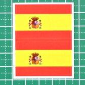 スペイン国旗★フェイスシール【ワールドカップ(サポーター)】/1シート2枚組