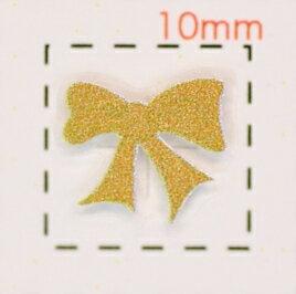 3Dネイルシール【ロココ(モロッコ)調】リボン(2)ピンクゴールド 1シート9枚入