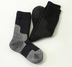 昨冬楽天週間ジャンルランキング1位!足先までムレ軽減して保温する防寒靴下の2足セット。2足目...