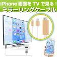 【あす楽】 ミラーリングケーブル 【iPhone画面をTVに映すケーブルです!】 1080P iphone HDMI テレビ出力 airplay iphone 5 5s 5c se 6 6s 6plus 7 7plus iPhone テレビ TV ミラーリングケーブル