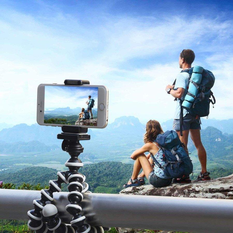 リモコン付きスマホ三脚ゴリラポッド三脚くねくね三脚1/4インチネジiphone4/5/5S/6/6S/7/7SandroidXperiaXZ/Z3/Z5など対応軽量携帯しやすいbluetooth中型記念撮影旅行ミニ三脚自撮り動画撮影屋内屋外コンパクト