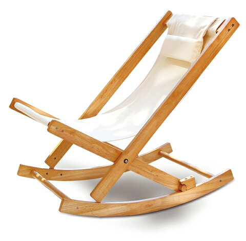 国産 中居木工 折りたたみ出来る ロッキングチェアー 折りたたみ可能でコンパクトに収納