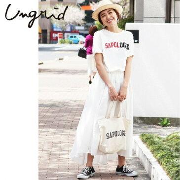 Ungrid(アングリッド)SAPOLOGIEプリントTee SET(111732704501)2017Summer新作 Tシャツ ロゴ 古着 プリント バッグ付 レディース カジュアル 送料無料