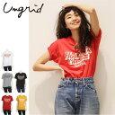 Ungrid(アングリッド)Howard'sプリントTee(111732721101)2017Summer新作 Tシャツ ロゴ 古着 プリント レディース カジュアル