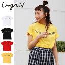 Ungrid(アングリッド)SUNSHINEプリントTee(111732721201)2017Summer新作 Tシャツ ロゴ 古着 プリント レディース カジュアル