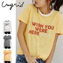 Ungrid(アングリッド)ネックカラーTee(111732721401)2017Summer新作 Tシャツ ロゴ 古着 プリント レディース カジュアル