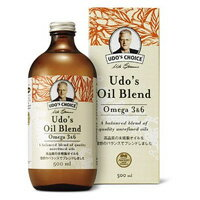 ウドズ・オイルブレンド オメガ3&6 500ml 必須脂肪酸 Udo's Oil Blend 栄養機能食品 ( FLORAフローラ )【クール便無料】【ポイント10倍】【送料無料】【あす楽対応】