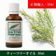 ティーツリーオイル 30ml (スクリューキャップ式)正規輸入品 天然100%精油(Tea Tree)ティートゥリー・アロマオイル(T3)
