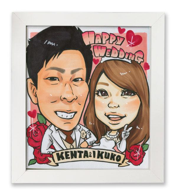 似顔絵プレゼント記念日結婚式ウェルカムボードサンクスボード