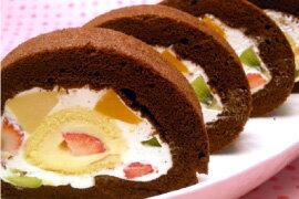 フルーツロールケーキ (18cm) 誕生日ケーキ バースデーケーキ 送料別 冷蔵配送のみ あす楽 遅れてごめんね 御中元 プレゼント スイーツ お中元 帰省 ギフト スイーツ 誕生日プレゼント 北海道・九州はあす楽不可2日間かかります。ポイント消化
