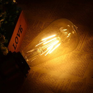 LEDフィラメント電球エジソン電球LED電球40W相当E26クリアタイプ全方向型LED透明電球