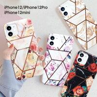 iPhone12proカバーiPhone12ケースソフトケース花柄大理石アイフォン12miniケーススマホカバーフラワーマーブルバラ薔薇おしゃれかわいいスマホケース大人可愛い大人ピンクホワイトブラックゴールドフラワー