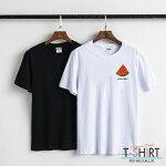 Tシャツペアカップルレディースメンズ160(XS)SMLXL[ロゴプリント風景足元F*UKphoto]大人かわいい仲良しコーデオシャレ人気デザイン