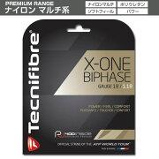 テクニファイバーガットX-ONEバイフェイズナチュラル1.18mm<TecnifibreX-OneBiphase118>