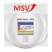 MSVガットフォーカスヘックス1.18mm(ホワイト)<MSVFocusHEX1.18String>【テニスガット】