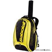 バボラテニスラケットバッグピュアラインバックパック(ラケット1本収納可能)?イエロー×ブラック(BB753074)