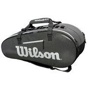 ウィルソンテニスラケットバッグSUPERTOUR2COMPLARGEBLACKGREY(ラケット9本収納可能)?(WRZ843909)