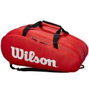 ウィルソンテニスラケットバッグTOUR3COMPRED(ラケット15本収納可能)?(WRZ847915)
