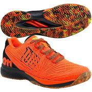 ウィルソンメンズテニスシューズKAOS2.0AC(オールコート用)ショッキングオレンジ×ブラック×セーフティイエロー(WRS325590)