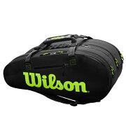 【※予約※8月23日発売予定】ウィルソンテニスラケットバッグSUPERTOUR3COMP(ラケット15本収納可能)(WR8004101001)