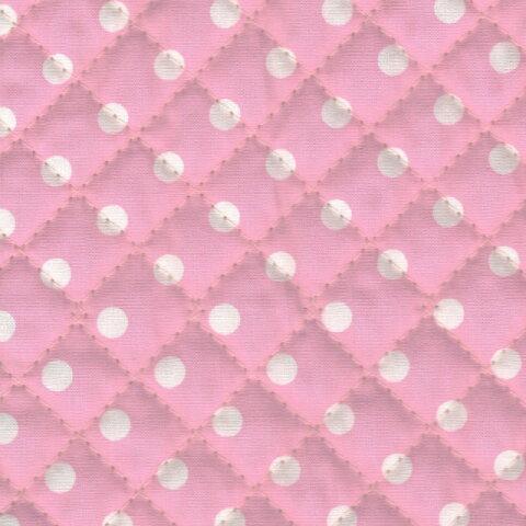 1m単位切り売り キルティング 約7mm水玉 ピンク系