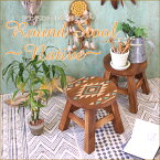 ラウンドスツール ネイティブ ネイティブアメリカン柄アジアン雑貨 ウッドスツール丸 いす/花台 木の椅子イス