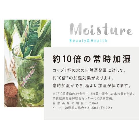 ペーパー加湿器2個セット(GREEN×SEA)エコ加湿器日本製電気不要卓上オフィスペーパー加湿器エコロジーおしゃれインテリア