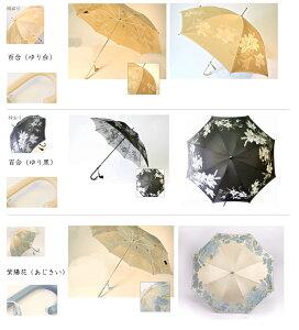 槙田商店甲州織り「絵おり」花柄婦人用長傘UV加工「通販のオファー」「送料無料」
