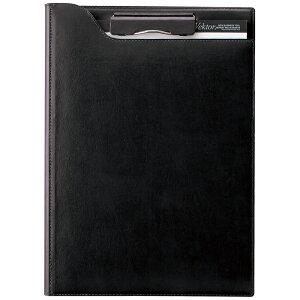 【ラッピング無料】レイメイ藤井(Raymay) zeitVektor クリップファイル A4 (再生皮革製) ブラック ZVF654B