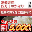 高知県産四万十のかほり 4kg(2kg×2袋)【エコファーマー認定米】【特別栽培米】【白米】【送料無料】【28年度産】