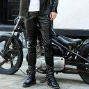 バイクPUパンツ 革メンズ バイクウェア ライダーパンツ 防風 防寒 おしゃれ