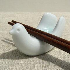 食卓にやさしい雰囲気を演出白山陶器 トリ型箸置き5客揃い