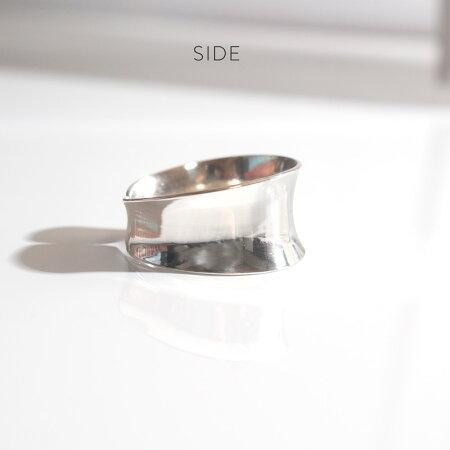 シルバーリング【LUKKルク】レディース用silver925リング925silverシルバー925デザインリングカジュアルフォーマル金属アレルギー安心指輪幅広幅太ワイドレディースジュエリーアクセサリー内反り地金