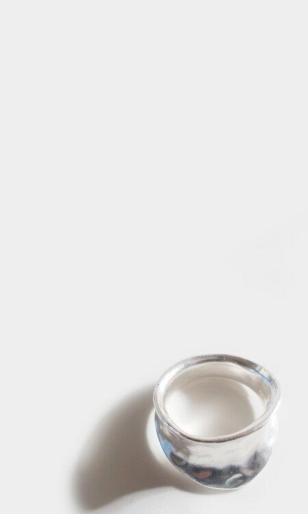 シルバーリング【Moonuモーヌ】レディース用シルバー925リング925silversilver925デザインリングカジュアルフォーマル金属アレルギー安心指輪幅広幅太ワイドジュエリーアクセサリー内反り地金マットつや消し