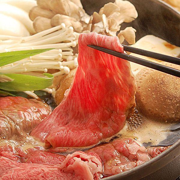 スーパープレミアムギフト 近江牛 赤身牛 特選すき焼き・しゃぶしゃぶ(約4~5人前) カタロース(桐箱入り)
