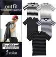 Tシャツ メンズ 半袖 ヘルスニット Healthknit Uネック 丸首 ボーダー トップス メンズファッション メンズカジュアル カットソー おしゃれ 夏服 きれいめ 白 黒 ホワイト ブラック