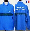 【SALE】 フランス ハイウェイ 警備隊 A.S.V.P スリーライン ポロシャツ 長袖 / ポリス 警察 デッドストック