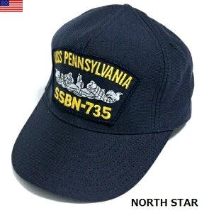 【SALE\2000→1600】 ノーススター / USS アメリカ製 PENNSYLVANIA キャップ SSBN-735 / ミリタリー ア−ミー 軍 帽子 ハット アメリカ海軍 / NORTH STAR / #