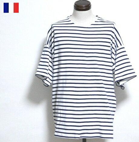 フランスArmorlux/ソフトバスクシャツフランス製デッドストック半袖シャツボーダーTシャツカットソートップス/アルモーリュッ