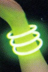 『レビューを書く』を選択で、楽しいオマケをプレゼント♪光るブレスレット(グリーン)【化学...