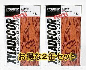 キシラデコール【送料無料】 4L 2缶セット 塗料販売【sybp】【kb】