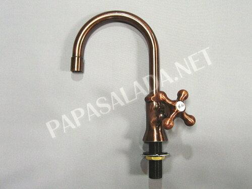 700-708-13 スワン立水栓ショート(ブロンズ) トイレの水栓、蛇口
