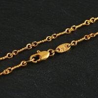 22KゴールドGPツイストチェーンクロムハーツが当たるメンズジュエリー贈り物プレゼントお兄系アクセサリーシルバーゴールド刻印彼氏人気ブランド