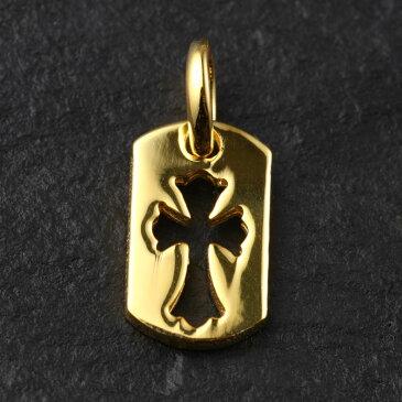 ブラックフライデー 22K ゴールドGP カットアウトクロス ドッグタグタイニー クロムハーツが当たる メンズ ジュエリー 贈り物 誕生日プレゼント 誕生日 プレゼント お兄系 アクセサリー シルバー ゴールド 刻印 彼氏 人気 ブランド