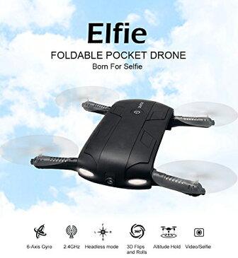 【送料無料】H37 Elfie ミニ ドローン Wifi カメラ付き 2.4GHz 4CH 6軸ジャイロ iPhone&Androidでリアルタイム生中継可能 ポケット セルフィードローン☆日本語取扱説明書付き