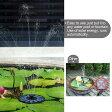 【濾過装置搭載】ソーラーパネル で省エネ☆ ソーラーミニ噴水スペシャルセット お庭のプチ噴水つくりに最適 噴水の最大高45cmまで 池でも使えるソーラー池ポンプ
