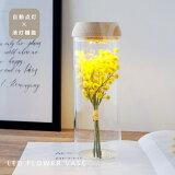 【楽天倉庫からの発送】フラワーベース インテリア LED機能付き 花瓶 ガラス おしゃれ かわいい ナチュラル シンプル 花器 北欧【母の日】